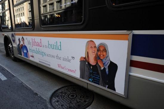 Campagne d'affichage dans le métro de New-York : Haine contre paix