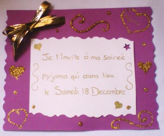 Je fabrique mes invitations !