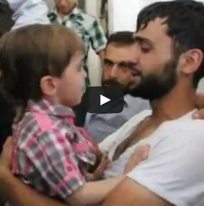 Syrie : vidéo des retrouvailles d'un père avec son fils qu'il croyait mort