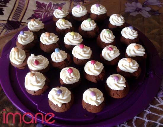 Mini cupcakes au chocolat très facile