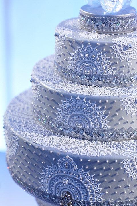 Le henna cake pour un gâteau de mariage original