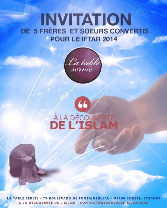 Convertis : Invitation pour l'Iftar