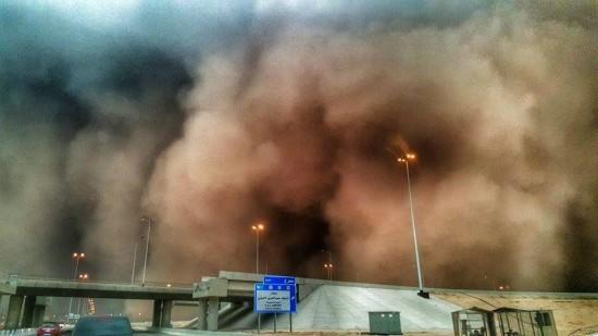 Tempête de sable sur le moyen Orient