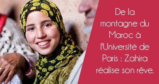 De la montagne du Maroc à l'Université de Paris : Zahira réalise son rêve